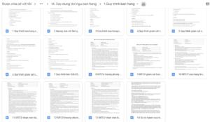 Toàn bộ tài liệu quy trình bán hàng