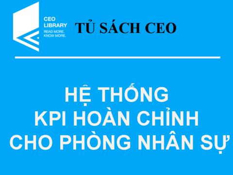 Tủ Sách CEO – Bộ Quà Tặng KPI Hoàn Chỉnh Cho Phòng Nhân Sự